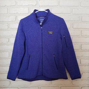 L.L.Bean Sweater Fleece Full-Zip Jacket Blue